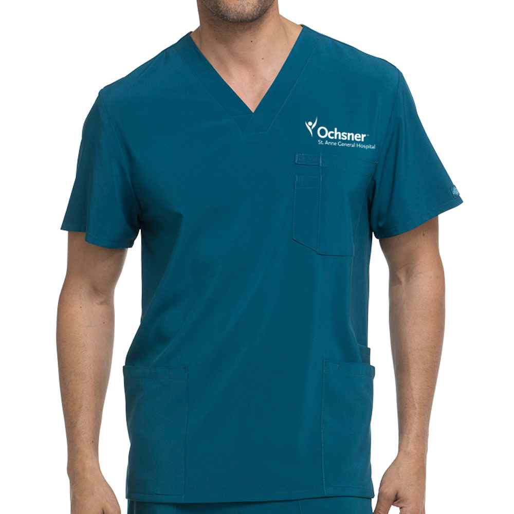 Dickies® Men's EDS Essentials V-Neck Scrub Top - Embroidered Full Color Logo Personalization Available