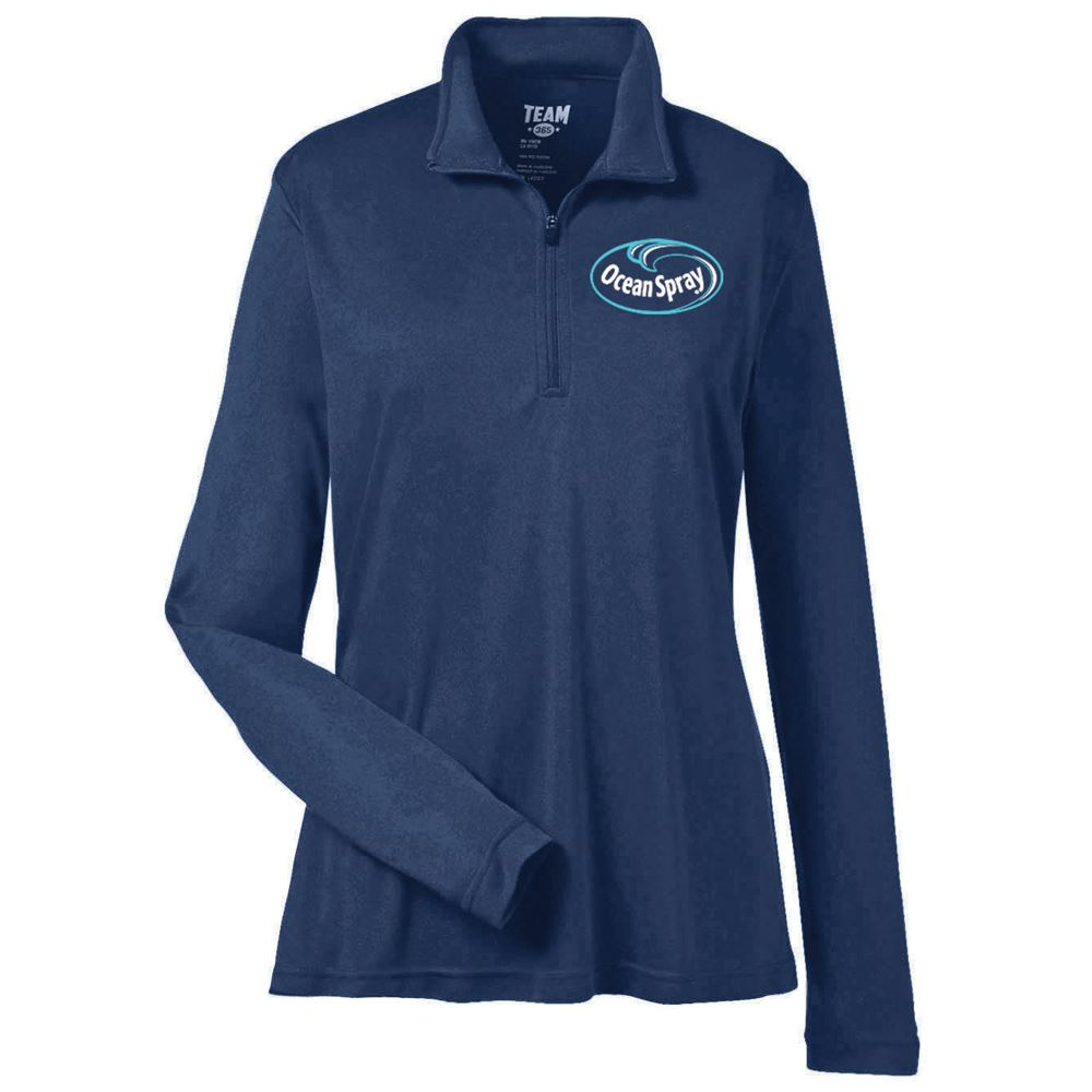 Team 365® Womens Zone Performance Quarter-Zip - Personalization Available