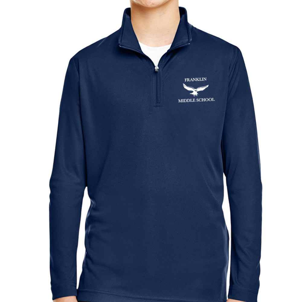 Team 365® Youth Zone Performance Quarter-Zip - Embroidery Personalization Available