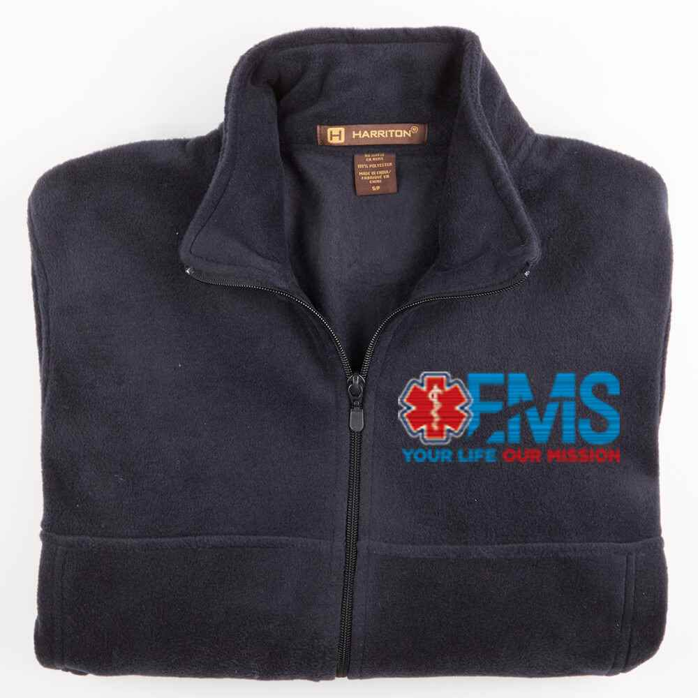 EMS: Your Life, Our Mission Harriton® Fleece Full-Zip Jacket - Personalization Available