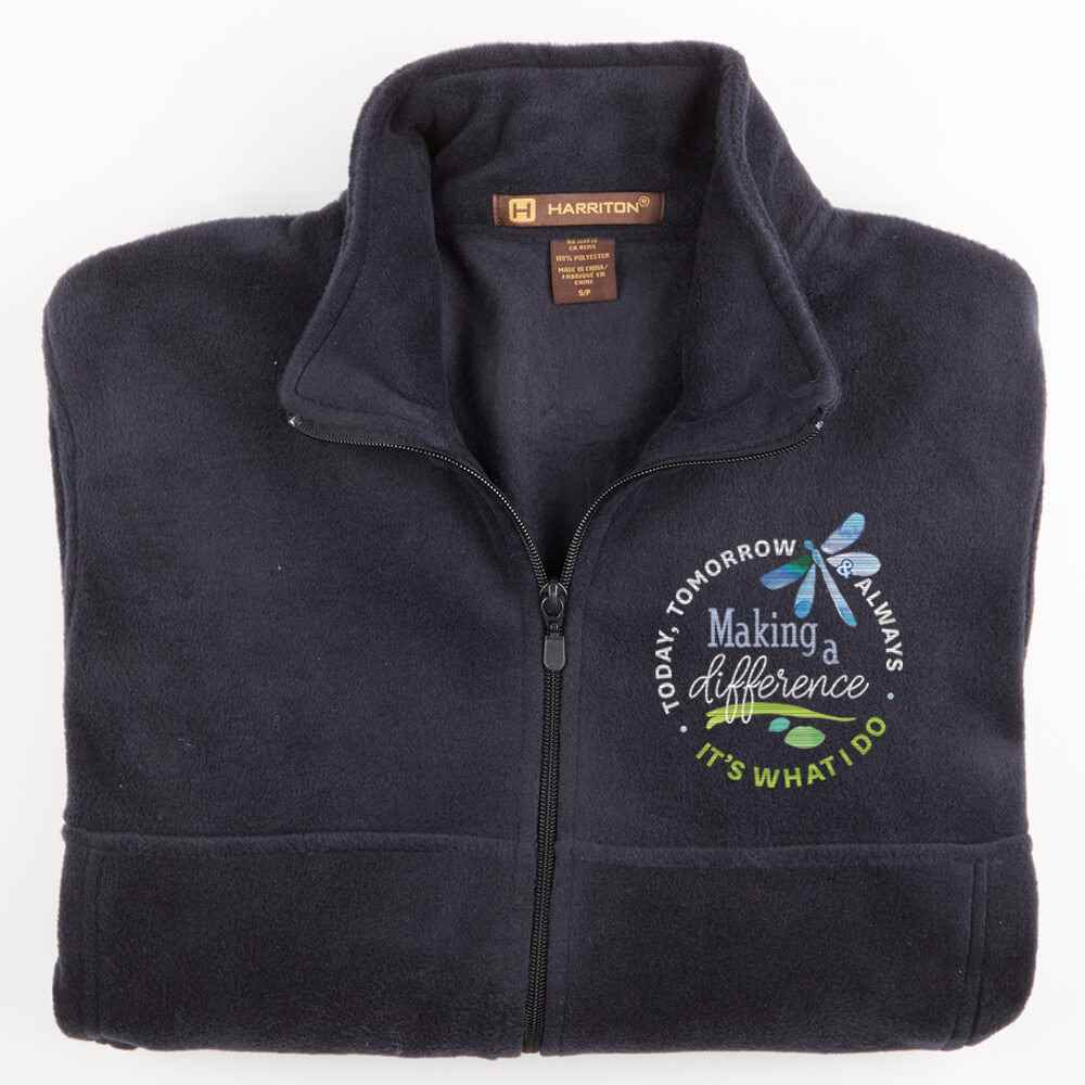 Making A Difference Today, Tomorrow & Always Harriton® Fleece Full-Zip Men's Jacket - Personalization Available