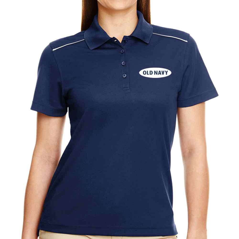 Ash City Core 365® Women's Radiant Performance Pique Polo With Reflective Piping - Personalization Available