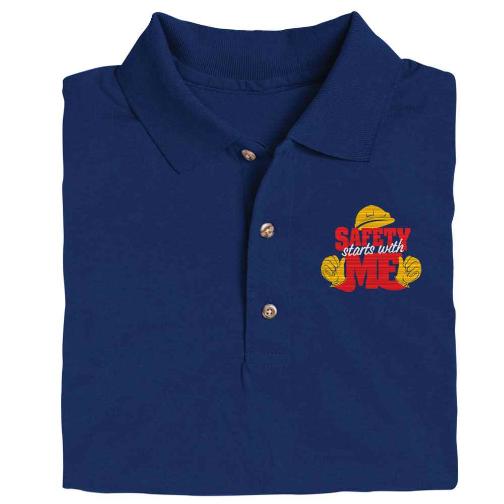 Safety Starts With Me Gildan® DryBlend Jersey Polo - Personalization Available