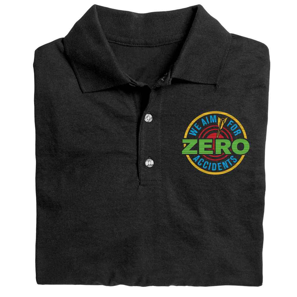 We Aim For Zero Accidents Gildan® DryBlend Jersey Polo - Personalization Available