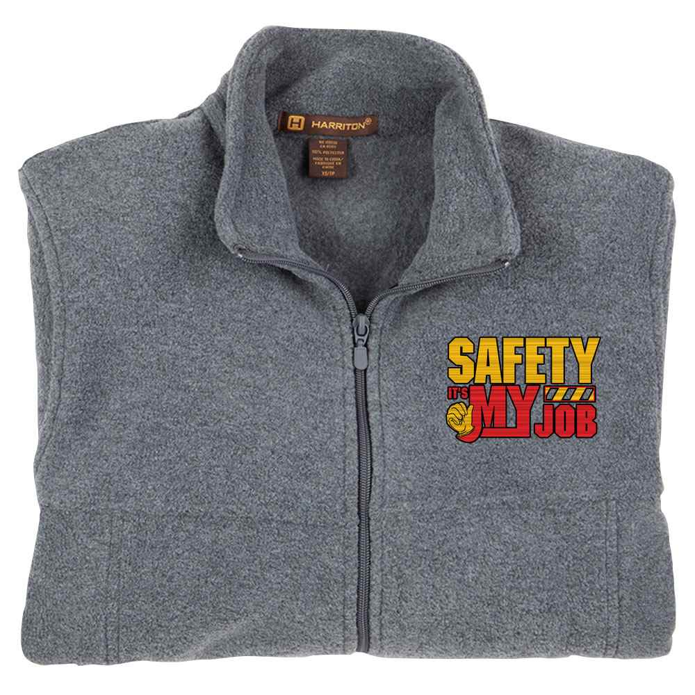 Safety: It's My Job Harriton® Fleece Full-Zip Jacket - Personalization Available