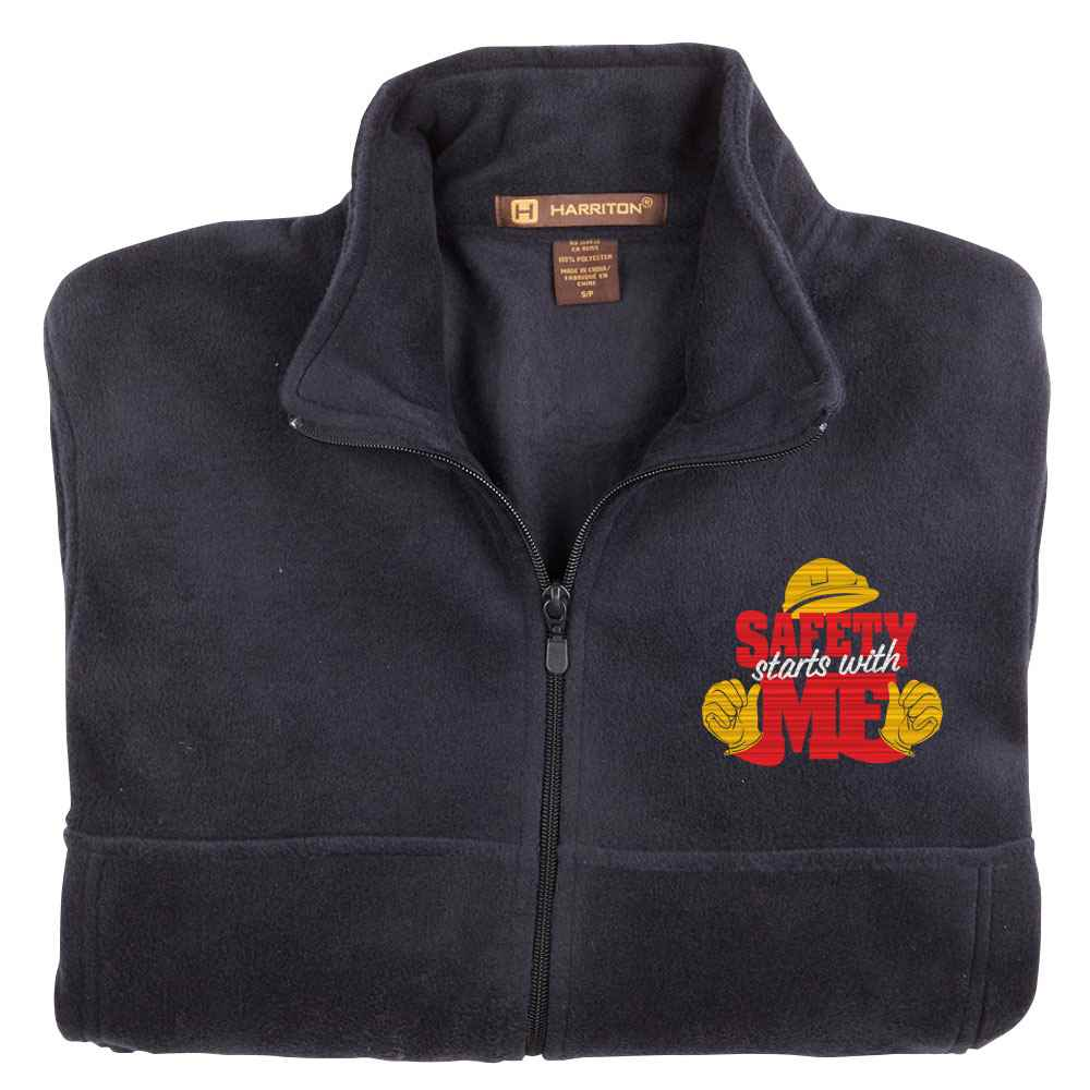 Safety Starts With Me Harriton® Fleece Full-Zip Jacket - Personalization Available
