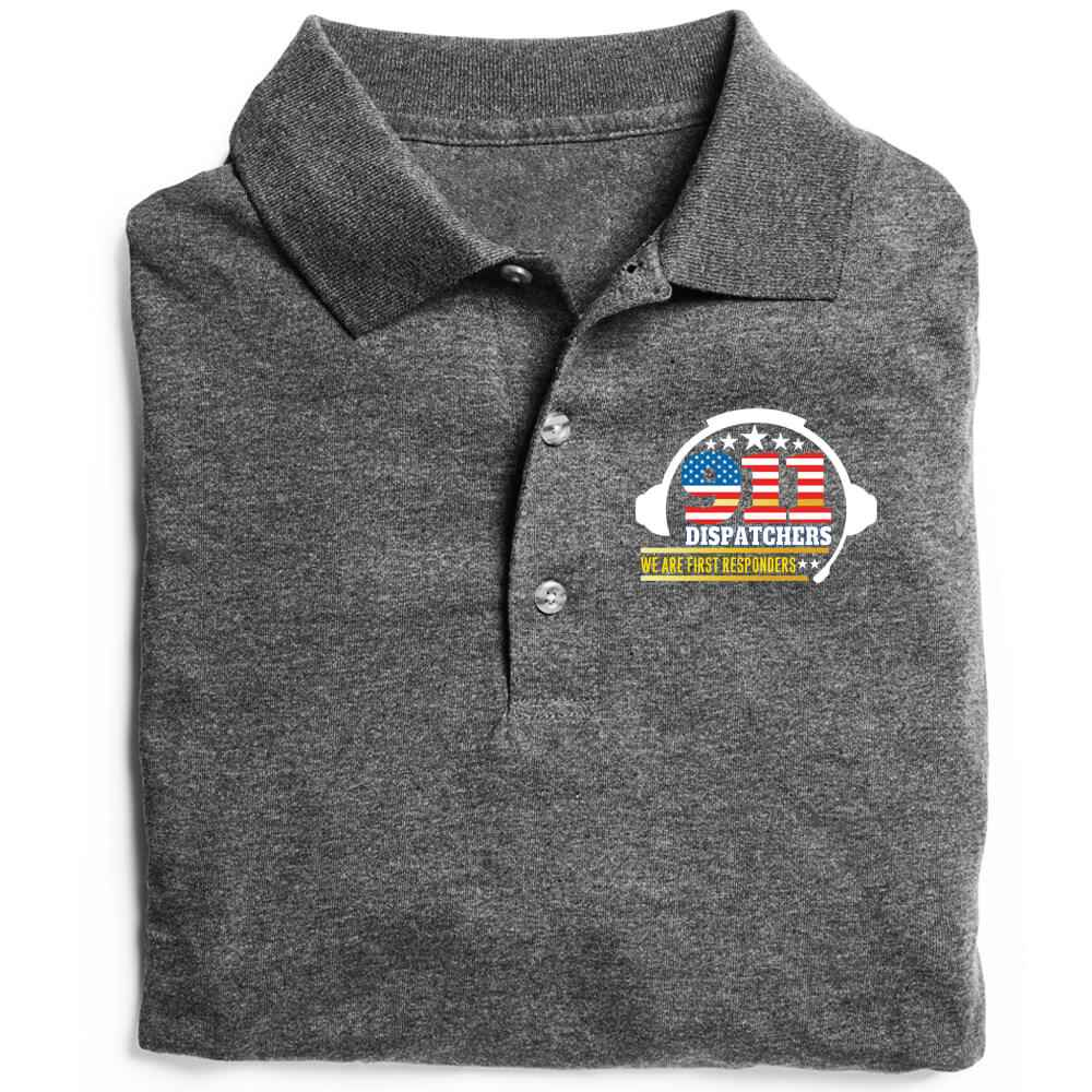 911 Dispatchers: We Are First Responders Gildan® DryBlend Jersey Polo - Personalization Available