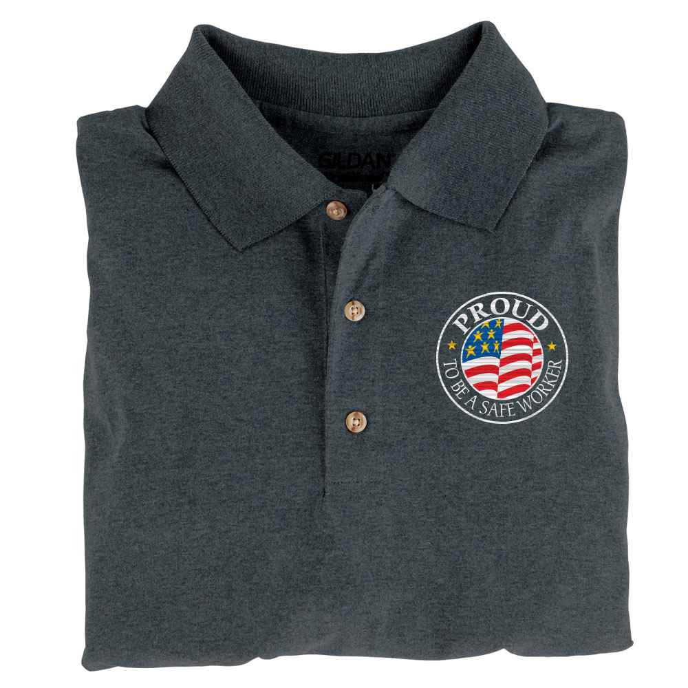 Proud To Be A Safe Worker Gildan® DryBlend Jersey Polo - Personalization Available