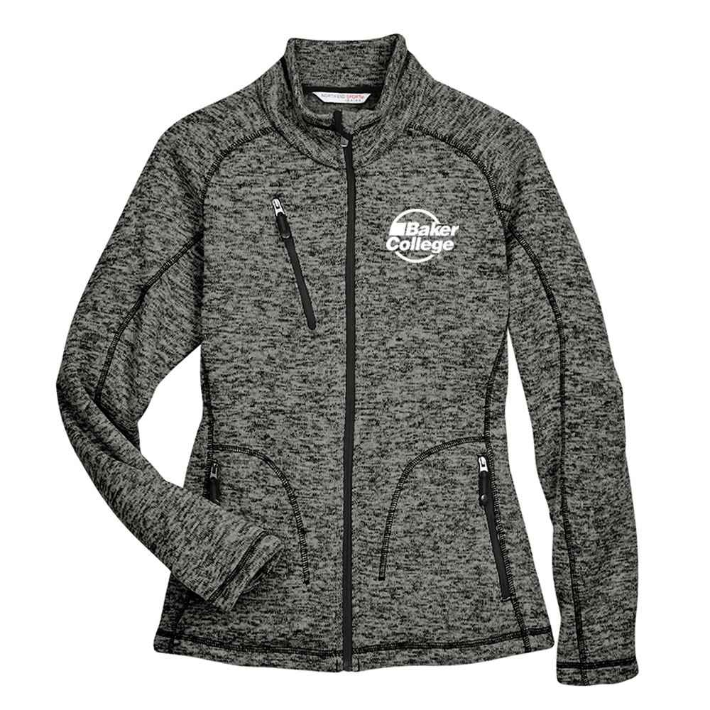 Ash City North End® Ladies' Peak Sweater Fleece Jacket -Embroidery Personalization Available