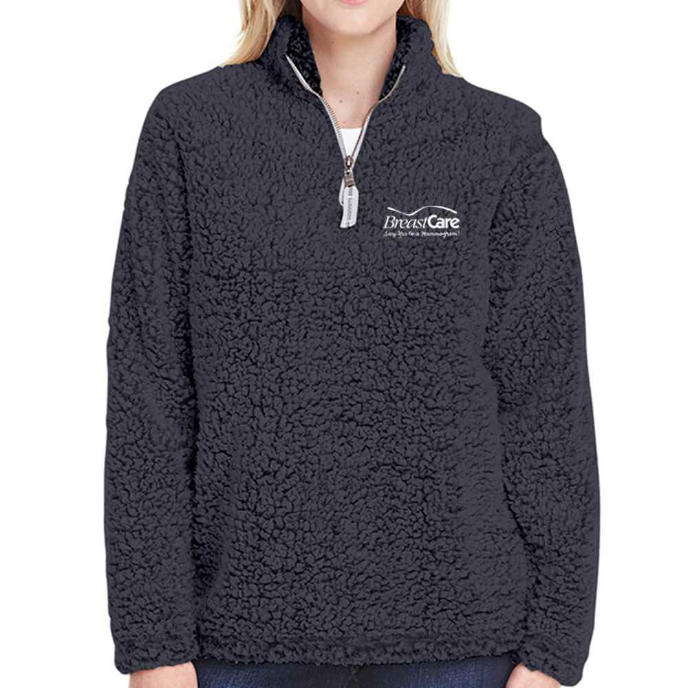 J America® Ladies Epic Sherpa 1/4 Zip - Personalization Available