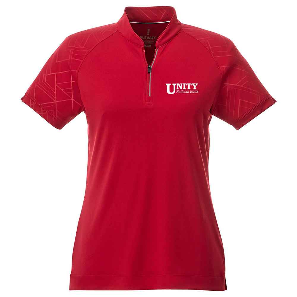Elevate® Women's Hakone Short Sleeve Polo Shirt - Embroidery Personalization Available