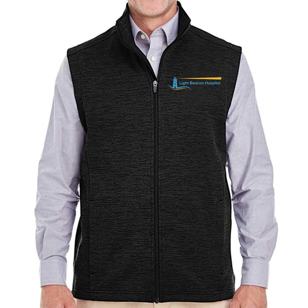 Devon & Jones® Men's Newbury Melange Fleece Vest - Personalization Available