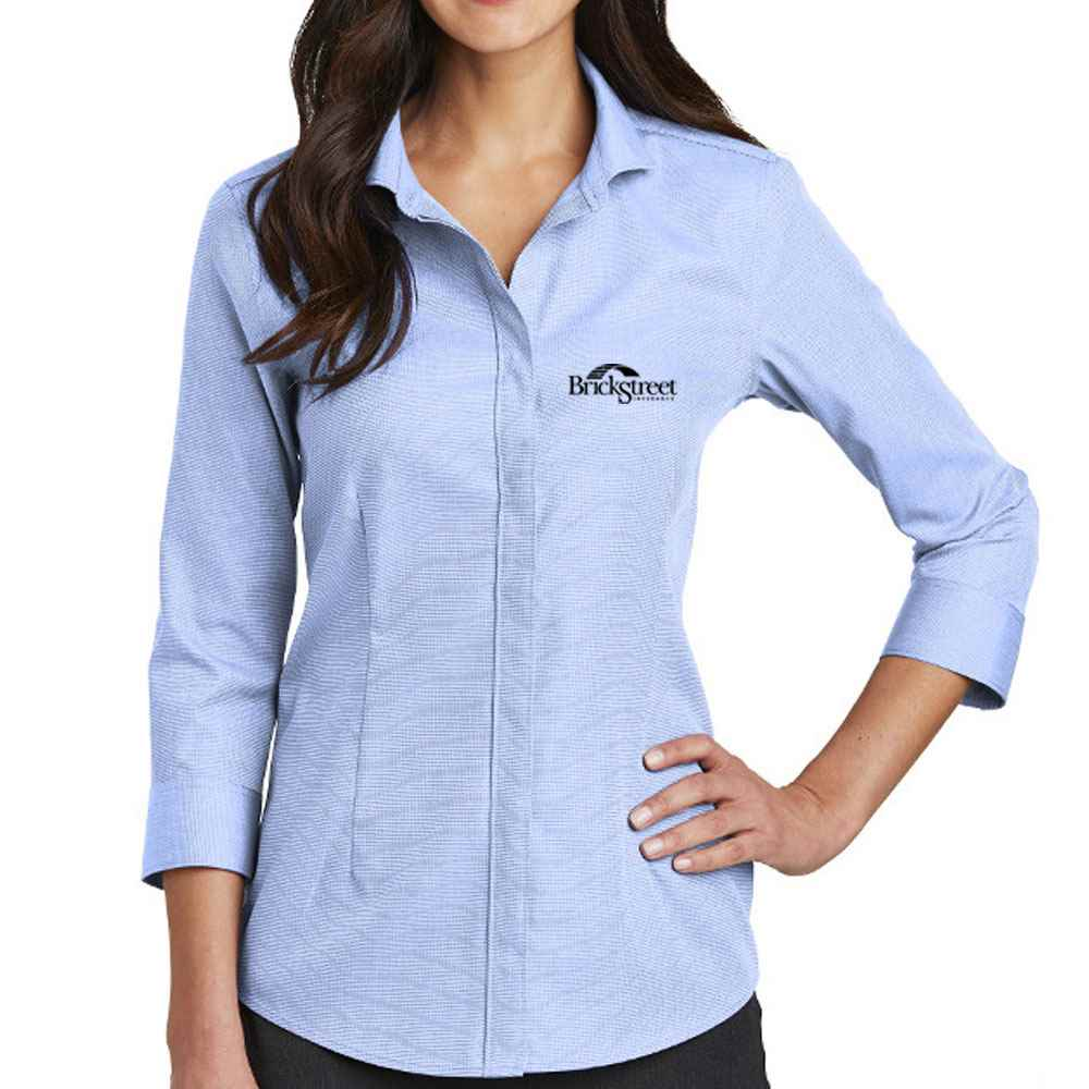 Red House® Ladies' 3/4-Sleeve Nailhead Non-Iron Shirt - Personalization Available