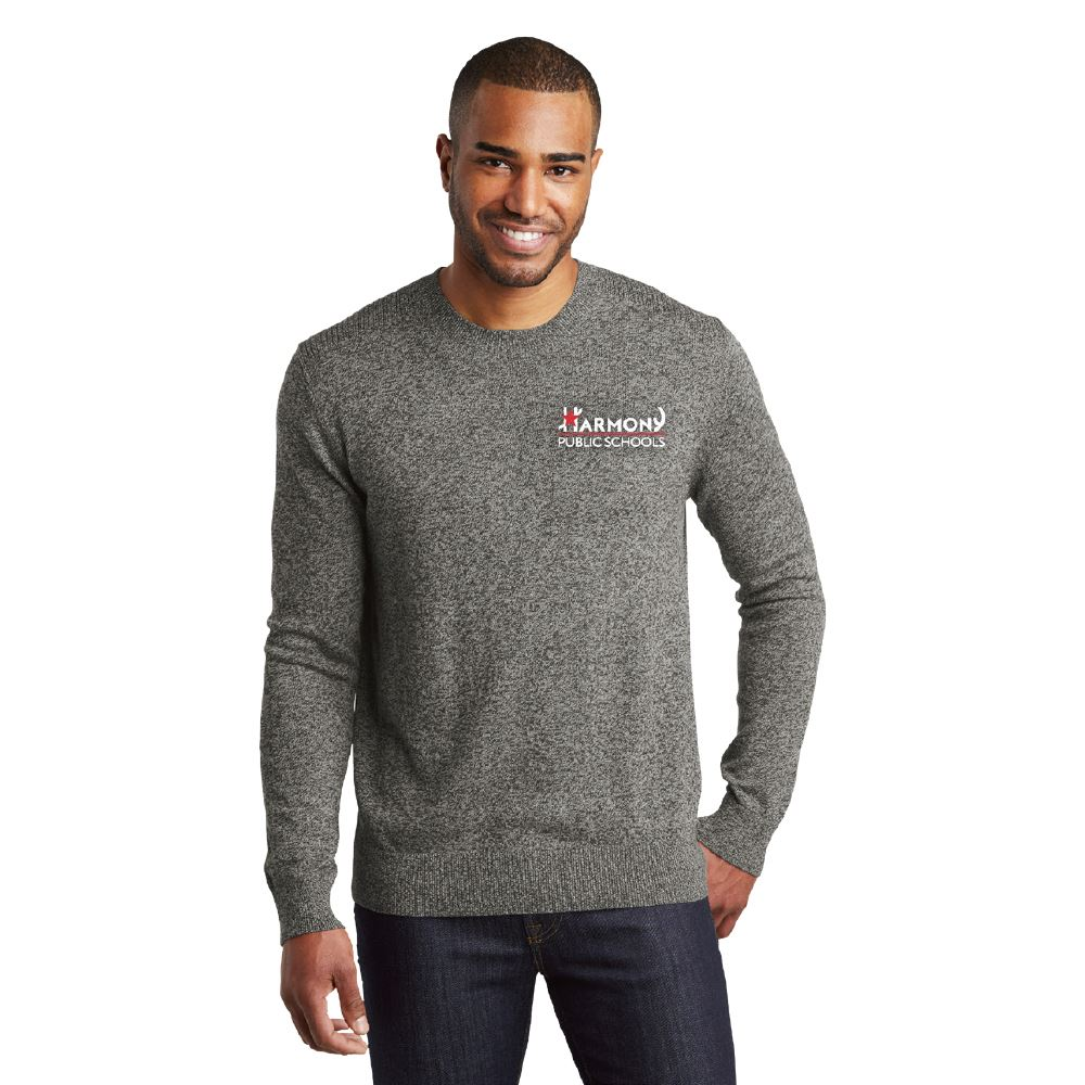 Port Authority® Men's Marled Crew Sweater - Embroidered Personalization Available