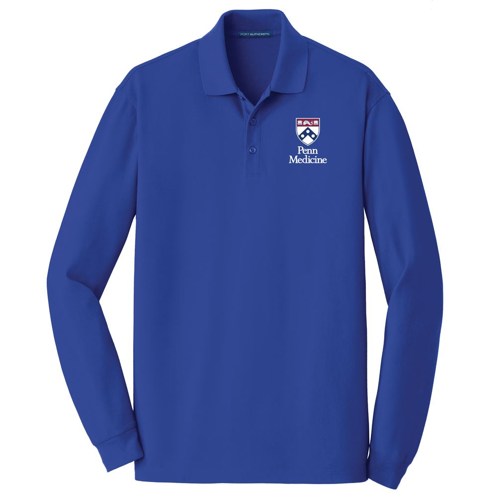 Port Authority® Adult EZCotton™ Long Sleeve Polo - Personalization Available
