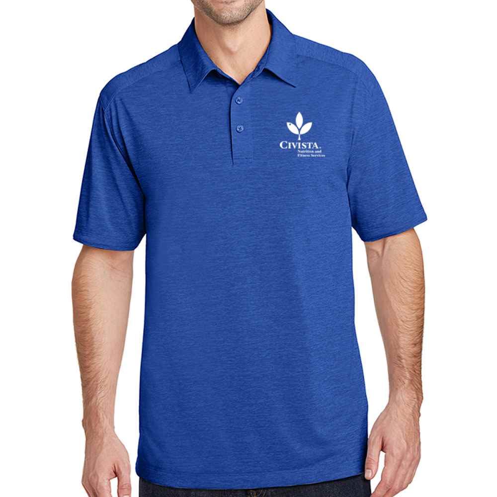 Port Authority® Men's Digi Heather Performance Polo - Embroidery Personalization Available