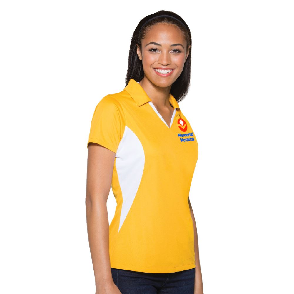 Sport-Tek® Ladies Side Blocked Micropique Sport-Wick® Polo - Personalization Available