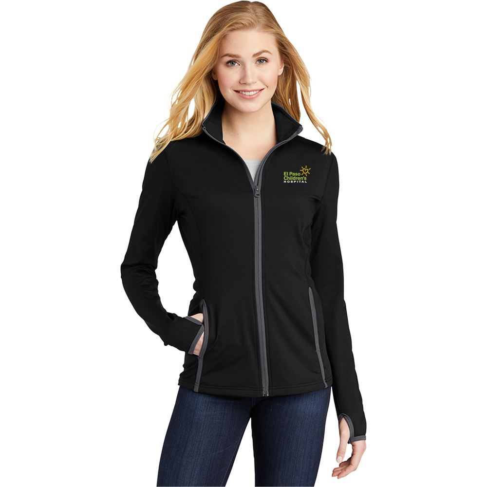 Sport-Tek® Ladies' Sport-Wick® Stretch Contrast Full-Zip Jacket - Personalization Available