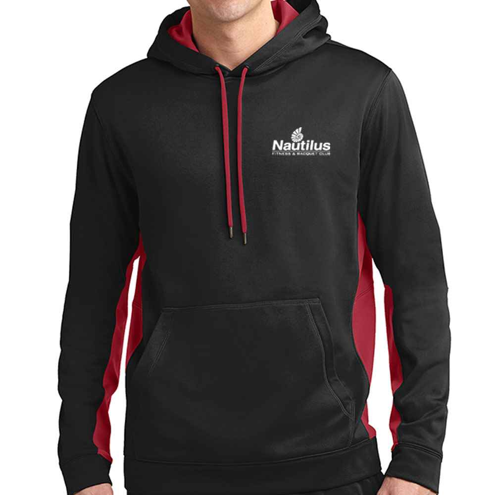 Sport-Tek® Men's Sport-Wick® Fleece Colorblock Hooded Pullover - Personalization Available