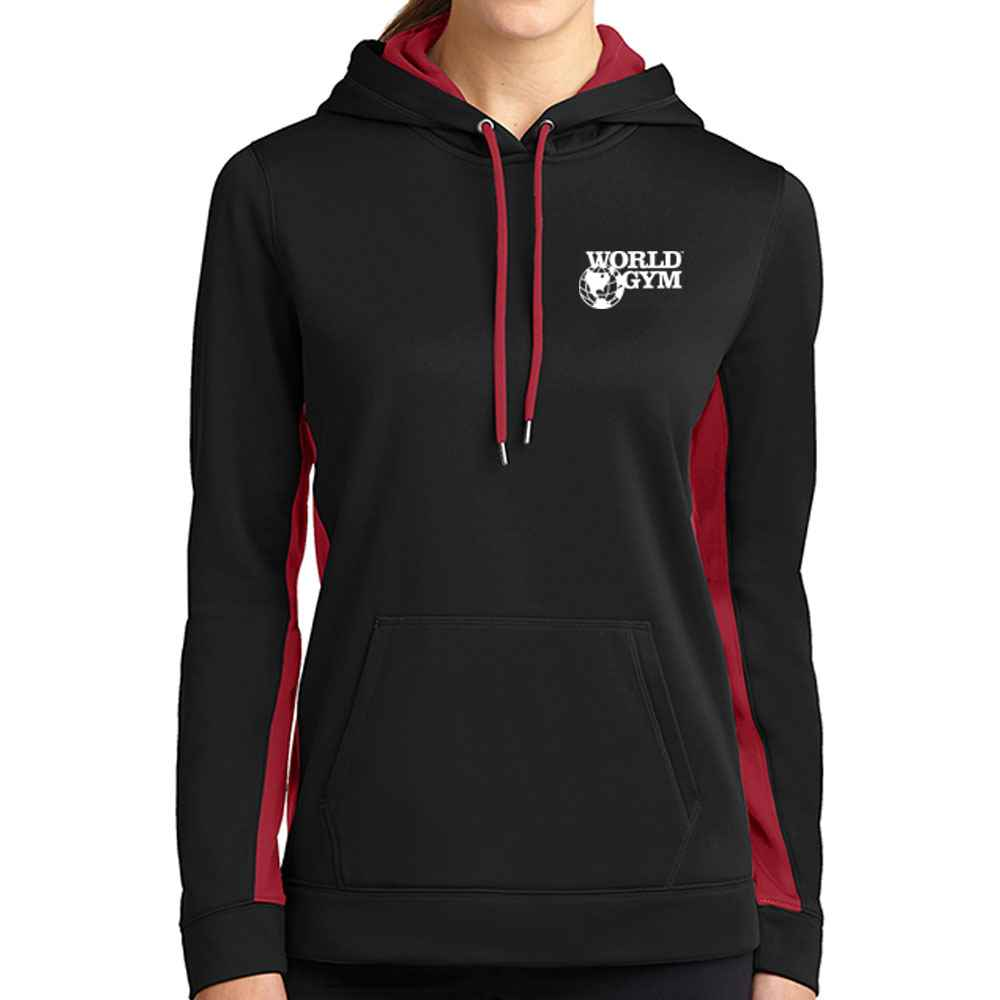 Sport-Tek® Ladies' Sport-Wick® Fleece Colorblock Hooded Pullover - Personalization Available