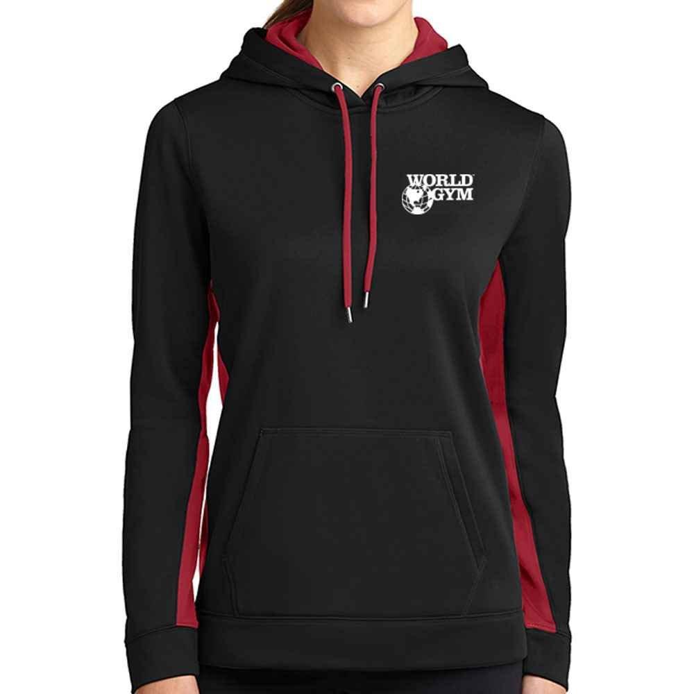 Sport-Tek® Ladies' Sport-Wick® Fleece Colorblock Hooded Pullover - Personalization Available