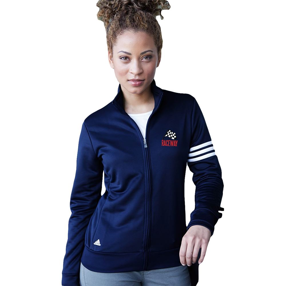 adidas® Women's ClimaLite 3-Stripes French Terry Full-Zip Jacket - Personalization Available