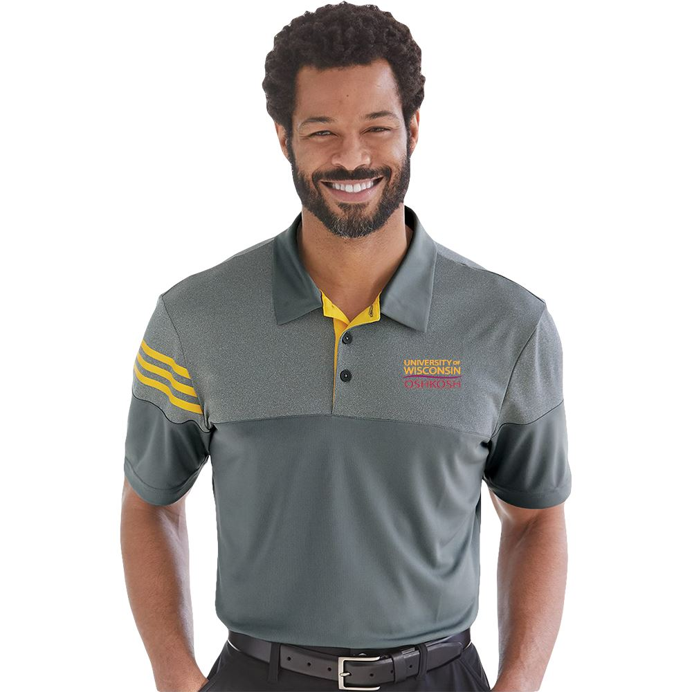 Adidas® Heather 3-Stripes Block Sport Shirt - Embroidered Personalization Available