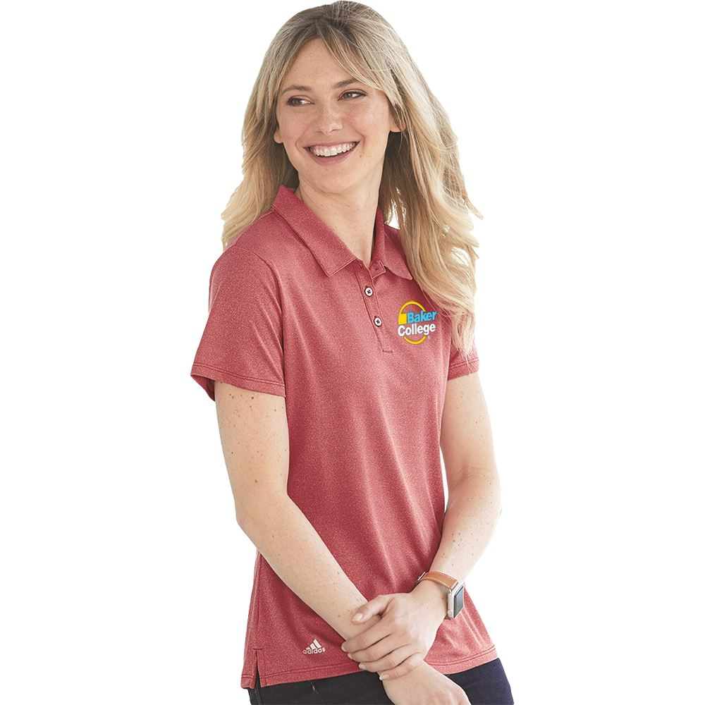Adidas® Women's Heather Sport Shirt - Embroidered Personalization Available