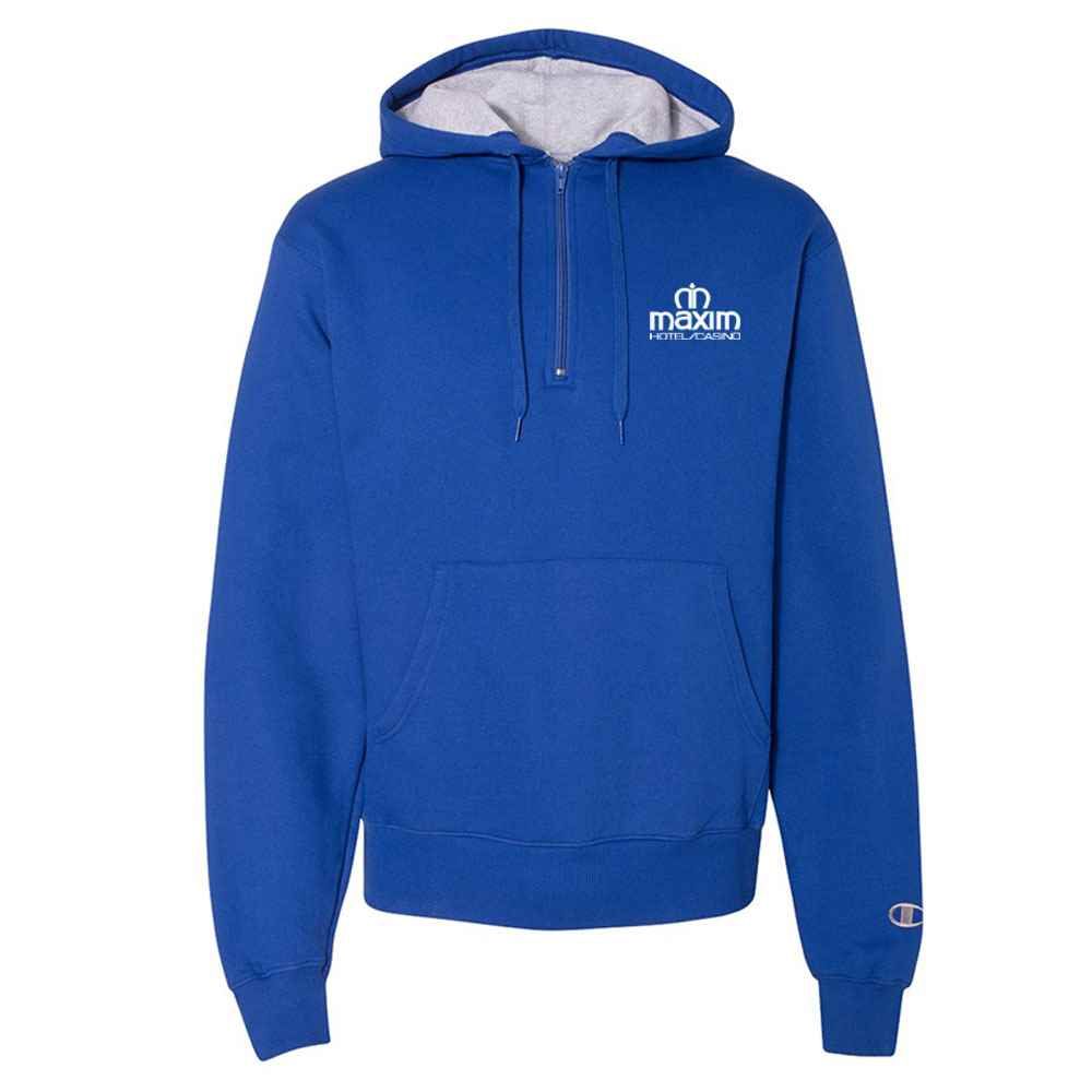 Champion® Cotton Max Hooded Quarter-Zip Sweatshirt - Personalization Available