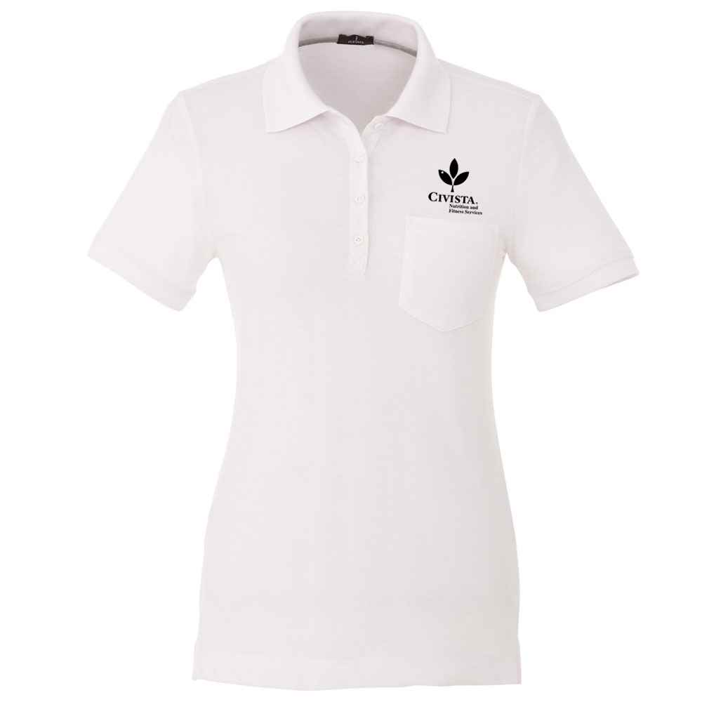 Elevate® Women's Banfield Short Sleeve Polo - Embroidery Personalization Available