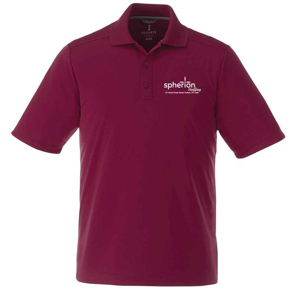 Elevate® Men's Dade Short Sleeve Polo Shirt - Heat Transfer Personalization Available