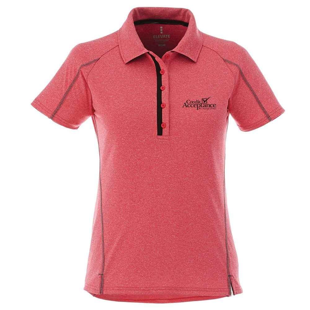 Elevate® Women's Macta Short Sleeve Polo Shirt - Heat Transfer Personalization Available