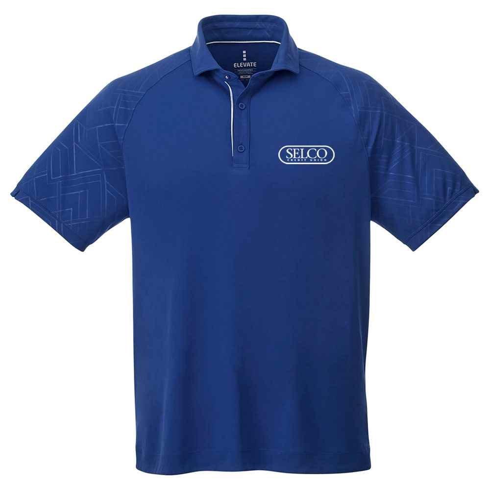 Elevate® Men's Hakone Short Sleeve Polo Shirt - Heat Transfer Personalization Available