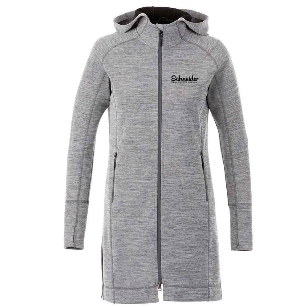 Elevate® Women's Odell Knit Zip Hoody - Heat Transfer Personalization Available