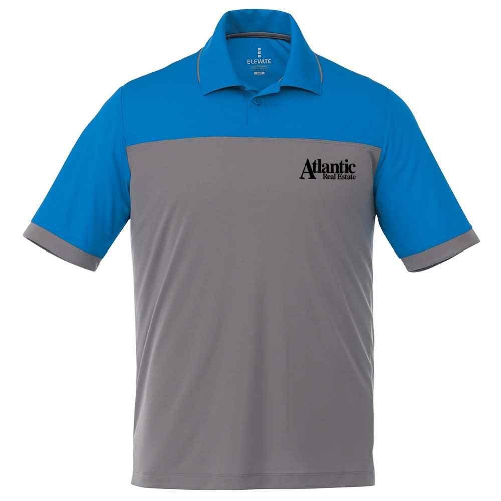 Elevate® Men's Mack Short Sleeve Polo Shirt - Heat Transfer Personalization Available