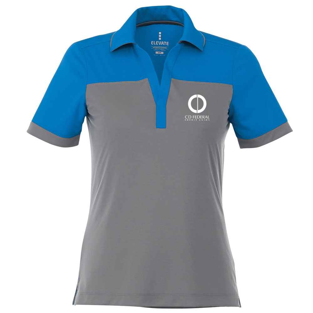 Elevate® Women's Mack Short Sleeve Polo Shirt - Heat Transfer Personalization Available