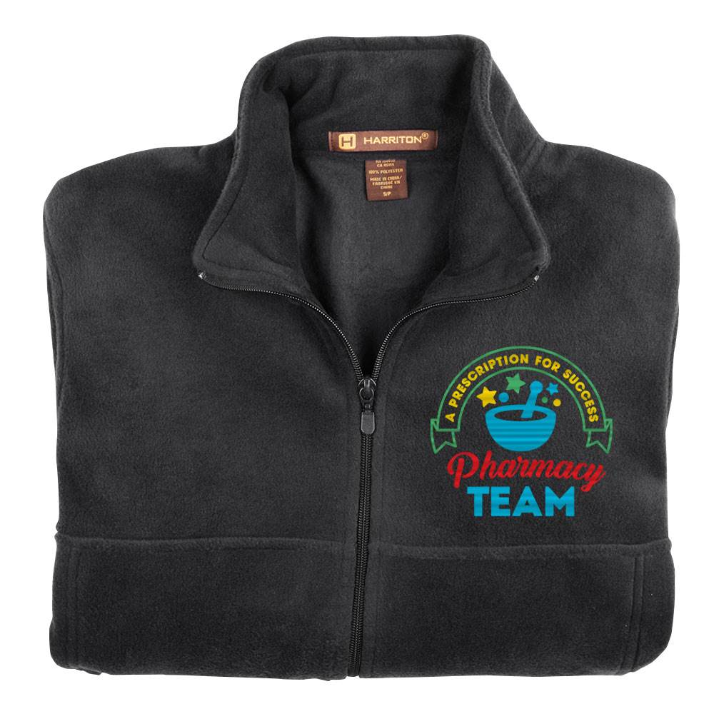 Pharmacy Team: A Prescription For Success Men's Harriton® Fleece Full-Zip Jacket - Personalization Available