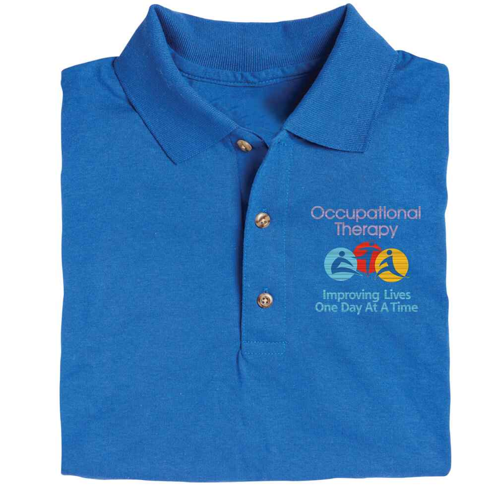 Occupational Therapy: Improving Lives One Step At A Time  Gildan® DryBlend Jersey Polo - Personalization Available