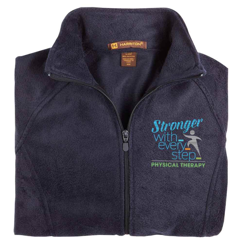Physical Therapy: Stronger With Every Step Women's Harriton® Fleece Full-Zip Jacket - Personalization Available