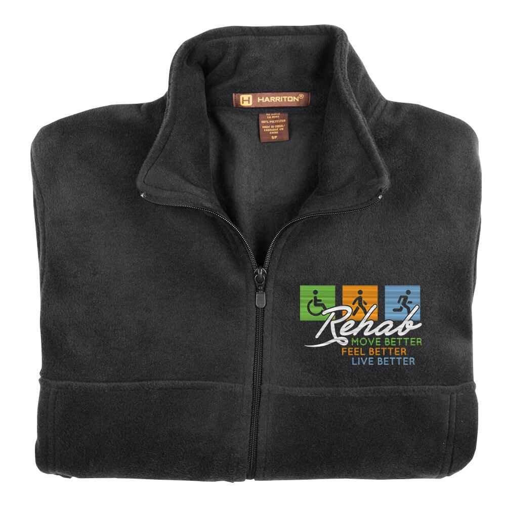 Rehab: Move Better, Feel Better, Live Better Men's Harriton® Fleece Full-Zip Jacket - Personalization Available