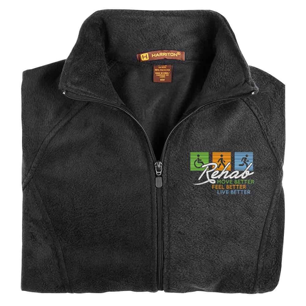 Rehab: Move Better, Feel Better, Live Better Women's Harriton® Fleece Full-Zip Jacket - Personalization Available