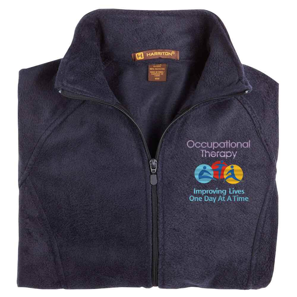 Occupational Therapy: Improving Lives One Day At A Time Women's Harriton® Fleece Full-Zip Jacket - Personalization Available