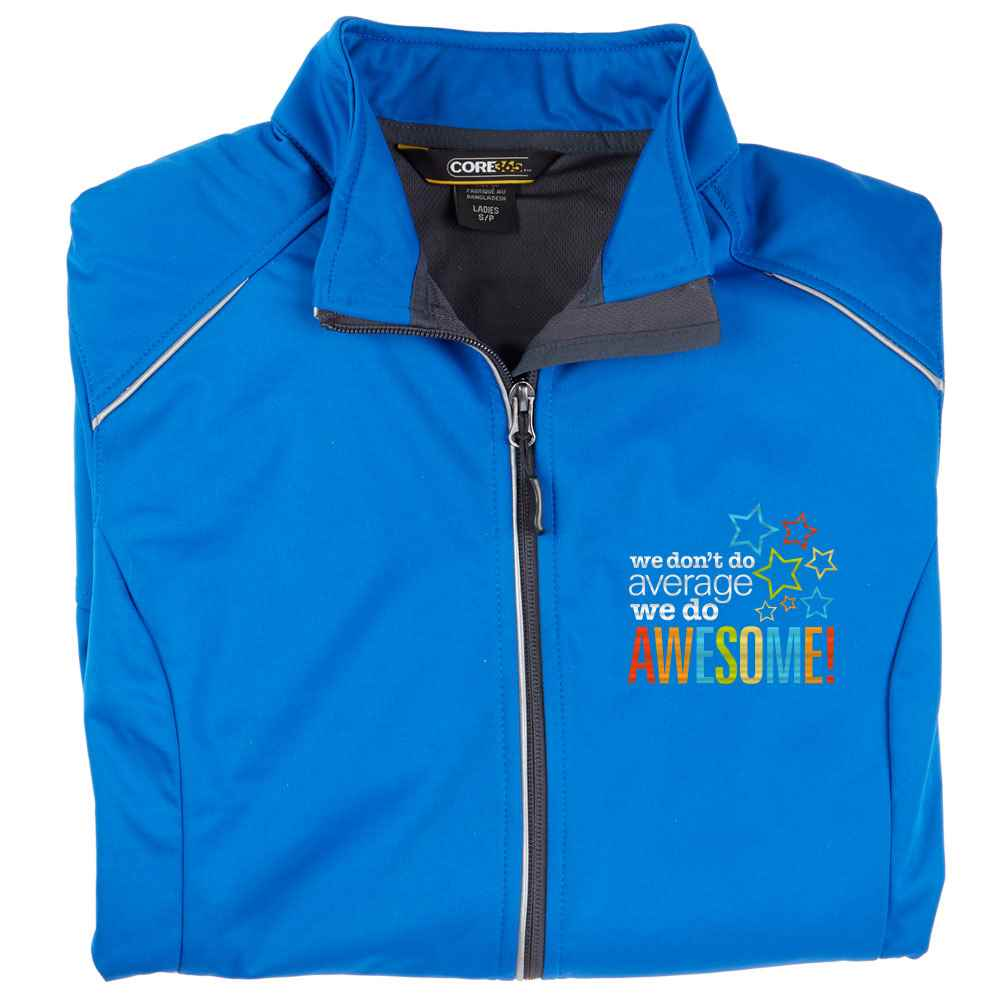 We Don't Do Average, We Do Awesome! Core 365® Women's Three-Layer Knit Full-Zip Jacket - Personalization Available