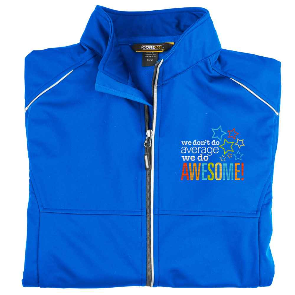 We Don't Do Average, We Do Awesome Core 365® Men's Three-Layer Knit Full-Zip Jacket - Personalization Available