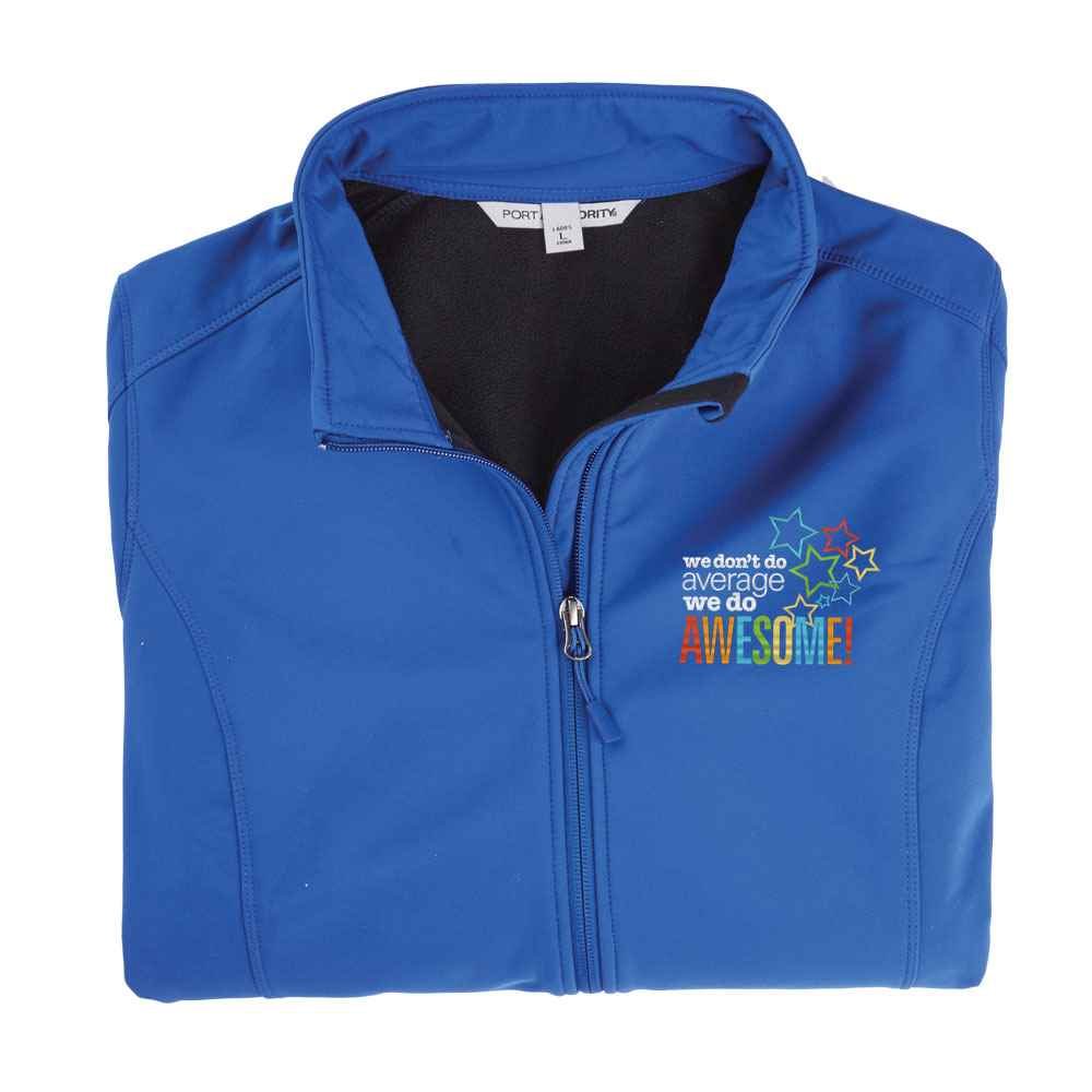 We Don't Do Average, We Do Awesome! Port Authority® Women's  Core Soft Shell Jacket - Personalization Available