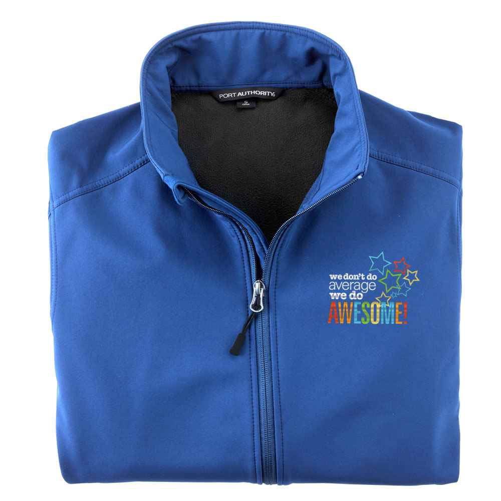 We Don't Do Average, We Do Awesome! Port Authority® Men's  Core Soft Shell Jacket - Personalization Available