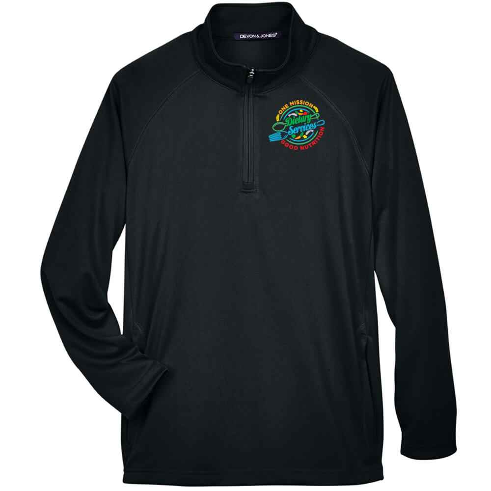Dietary Services: One Mission, Good Nutrition Devon & Jones® Stretch Tech-Shell Compass Quarter-Zip - Personalization Available