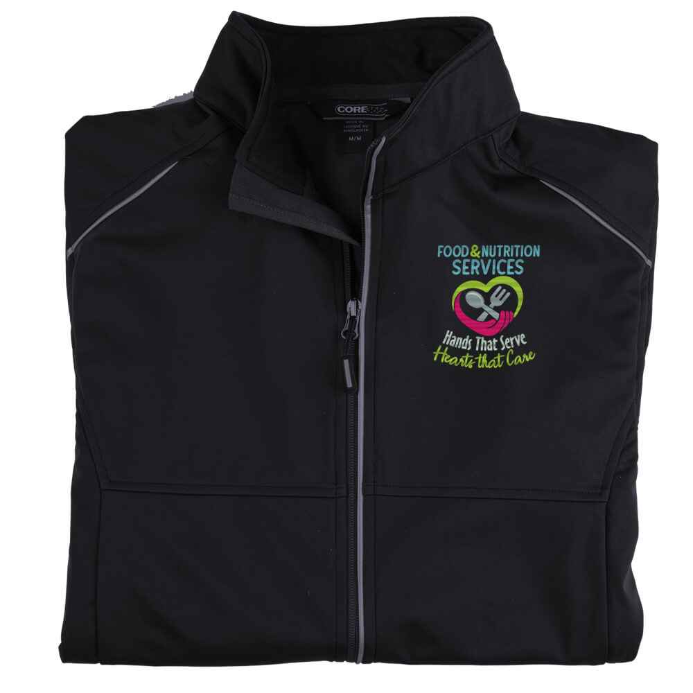 Food & Nutrition Services: Hands That Serve, Hearts That Care Core 365® Three-Layer Knit Full-Zip Jacket - Personalization Optional