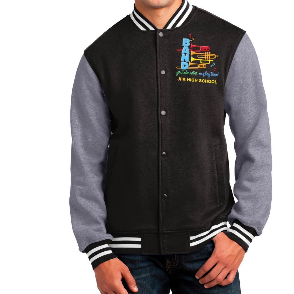 Sport-Tek Men's Fleece Letterman Jacket - Personalization Available