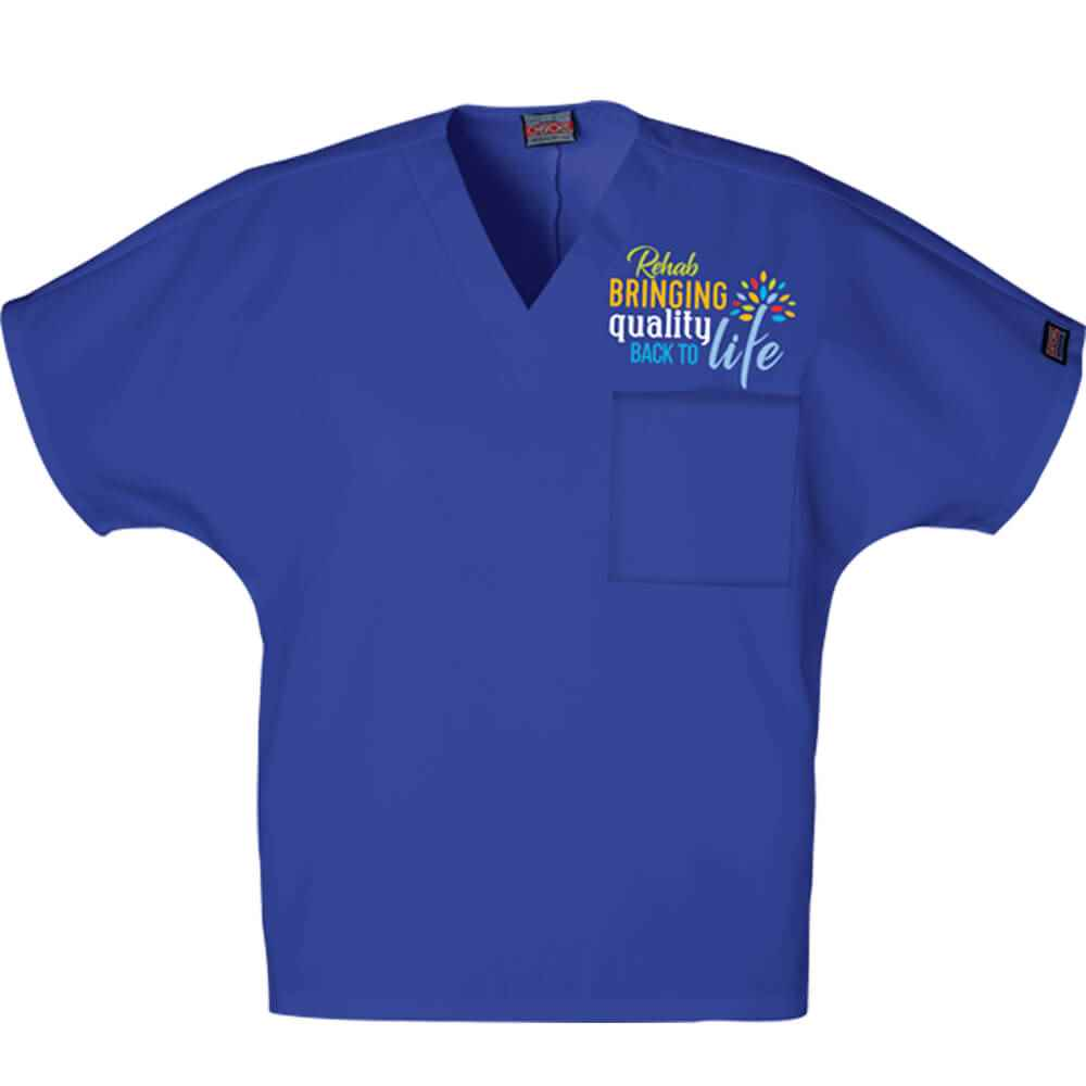 Rehab: Bringing Quality Back To Life Cherokee® V-Neck One-Pocket Top - Personalization Available